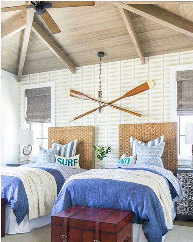 Nautical hamptons style bedroom