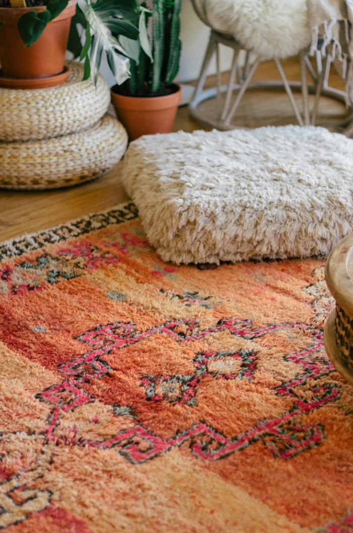 Colourful moroccan rug