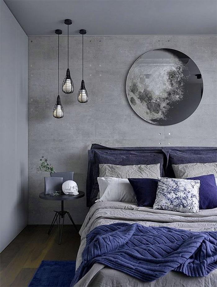 industrial blue bedrooms