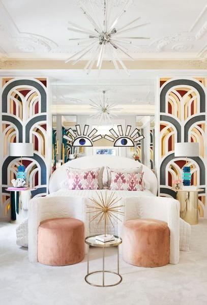 bold Art Deco bedroom