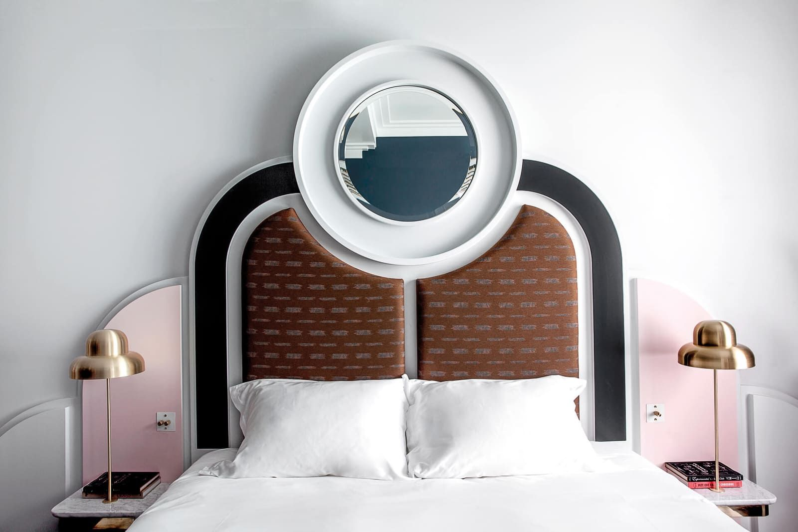 Art Deco bedroom curves and symmetry