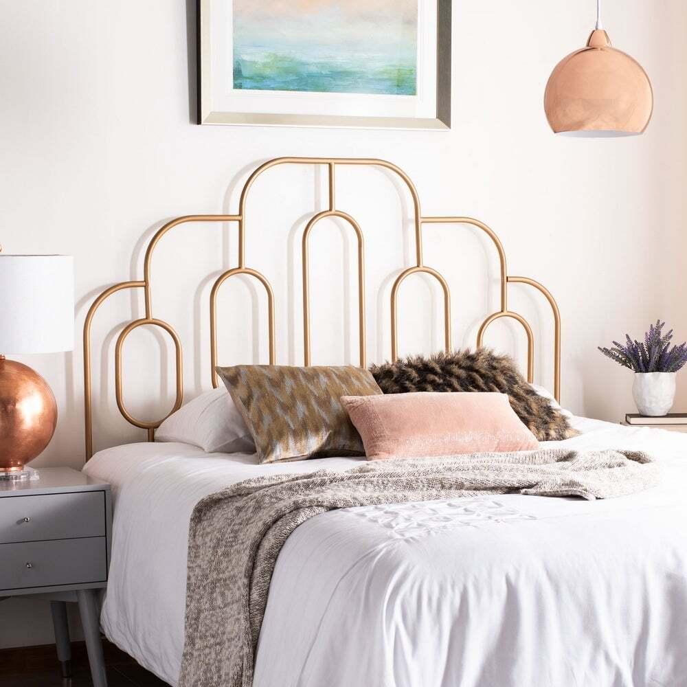 geo metal frame in Art Deco bedroom