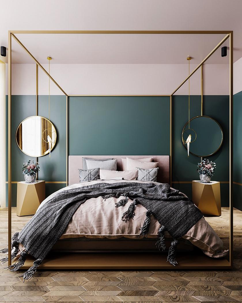 lavish Art Deco bedroom