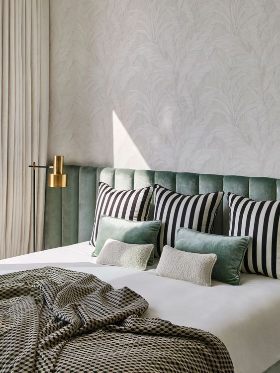 leafy wallpaper graphic cushions