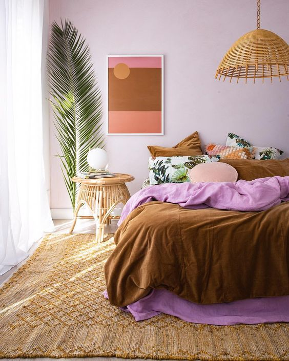 lilac and earthy tones