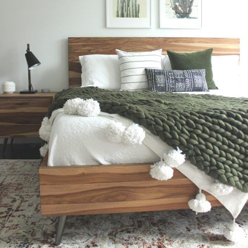 moss and timber green bedroom