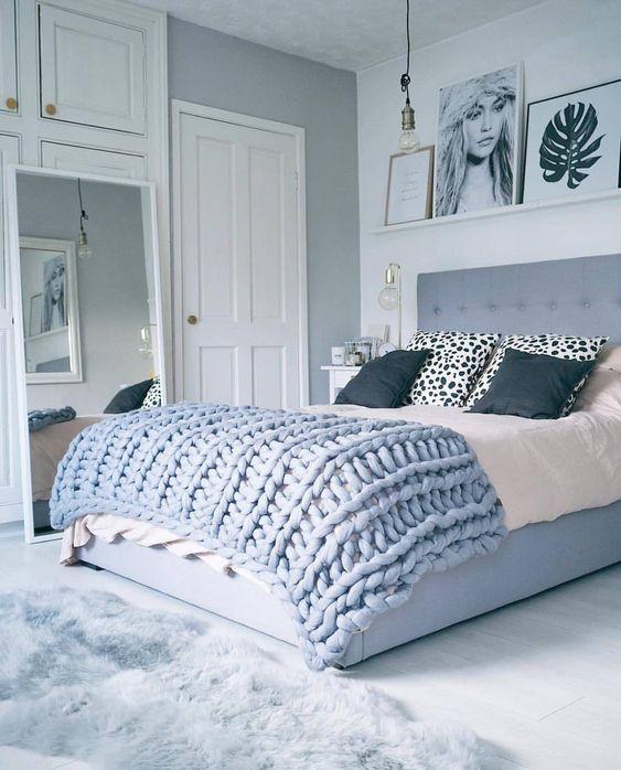 pale blue bedrooms