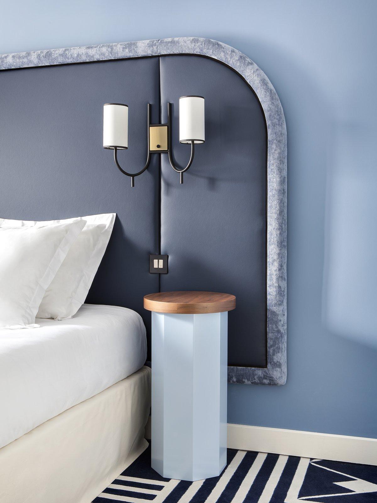 powder blues in Art Deco bedroom