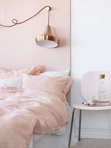 rose gold and pink wall