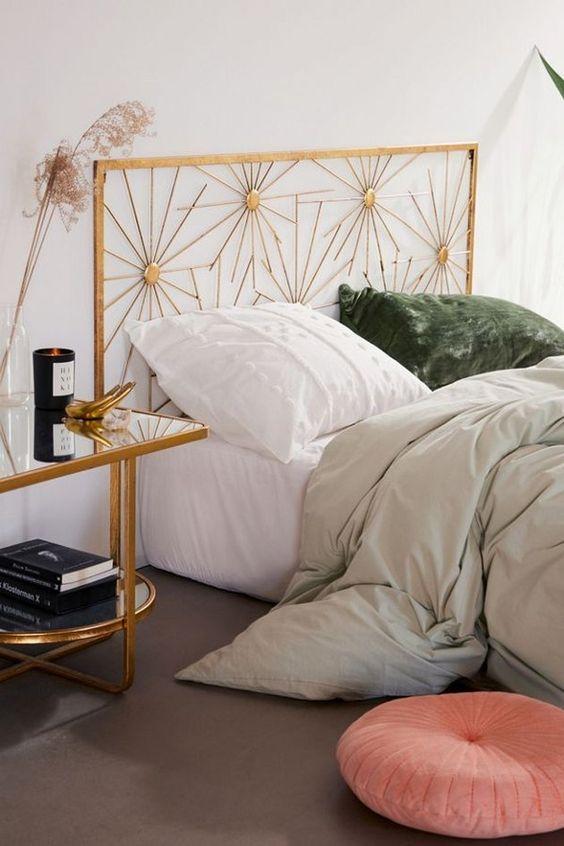 Art Deco bedroom sunburst bedframe