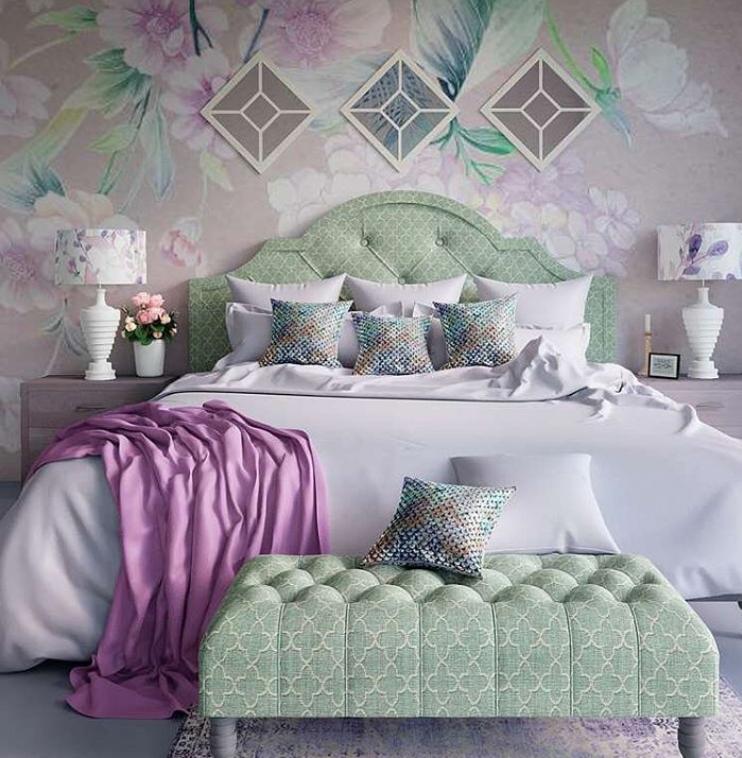 Purple green room