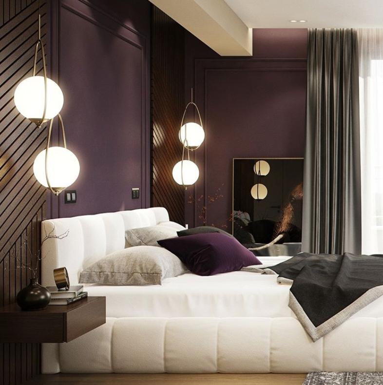 Dark purple wall