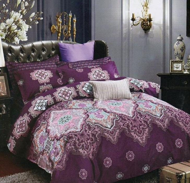 Purple and black room