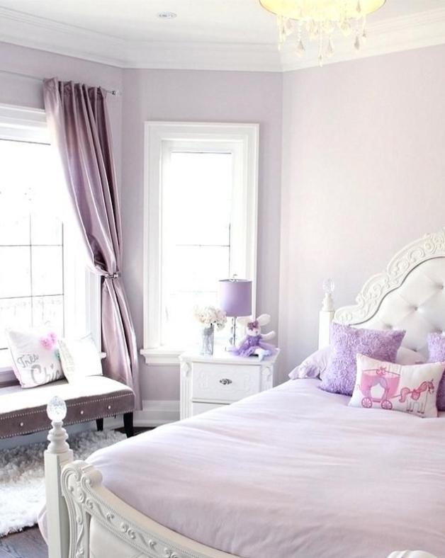 Soft purple bedroom