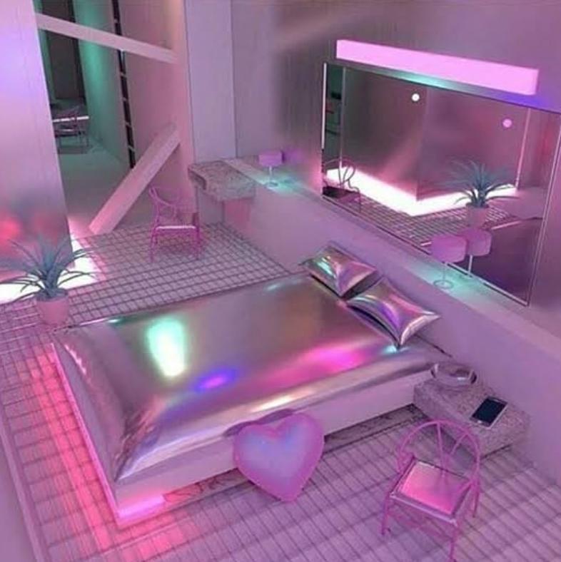 Metallic bedroom