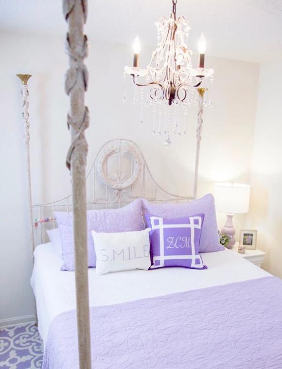 Soft purple bedspread