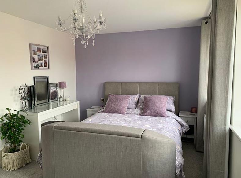 Purple feature wall