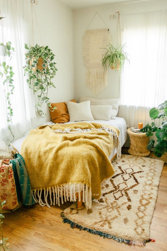 Boho with yellow