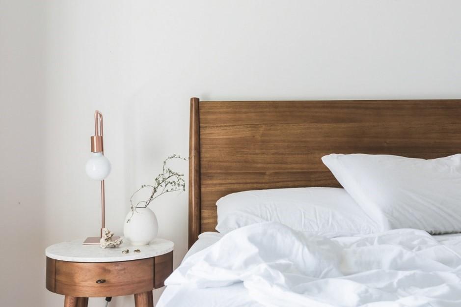 Scandi rose gold bedroom