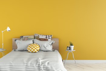 canary yellow wall