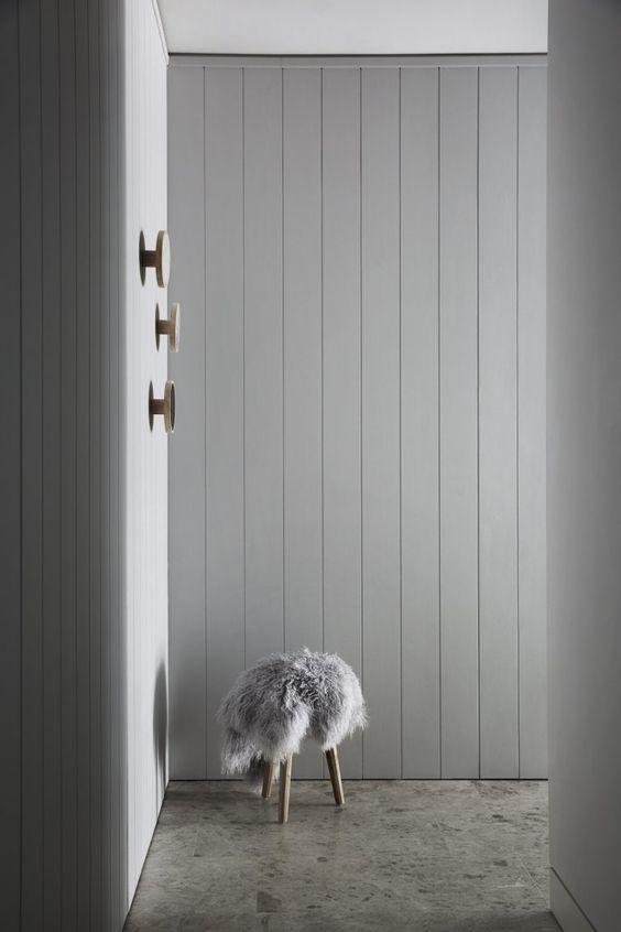 grey timber panelling