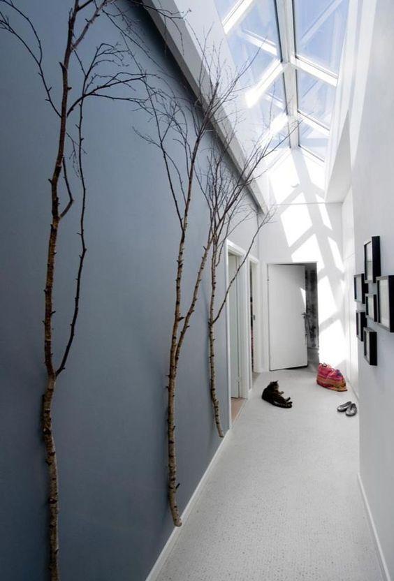 hallway with trees