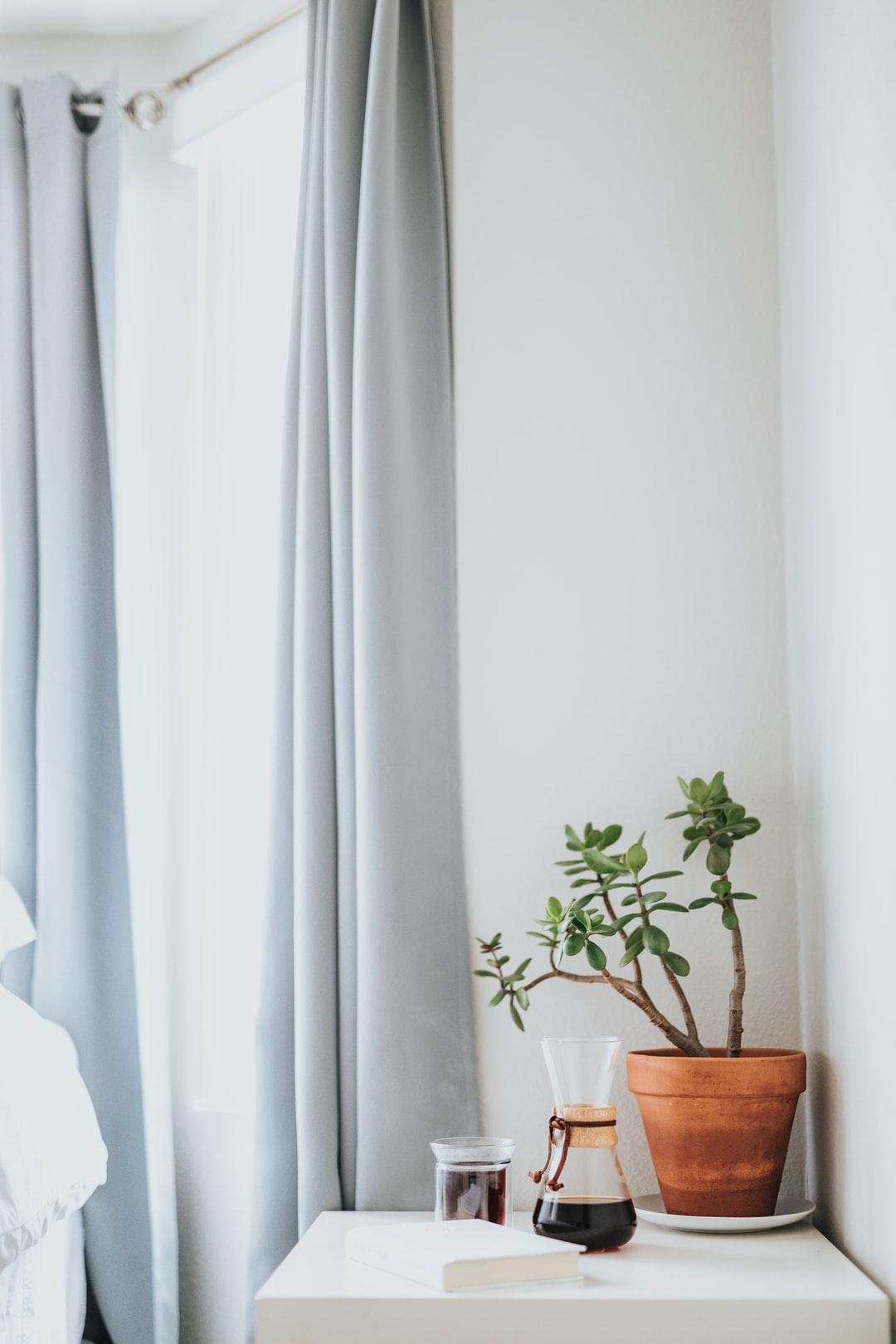 Large white curtain design