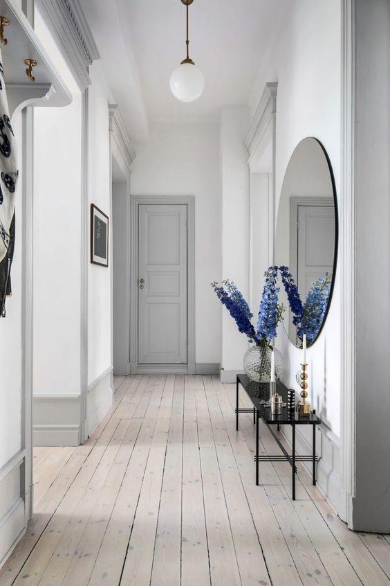light grey hallway