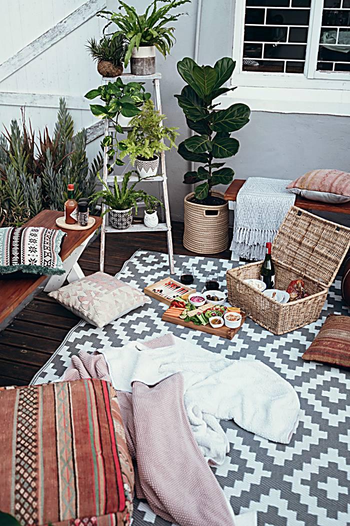 moroccan rattan designs in room