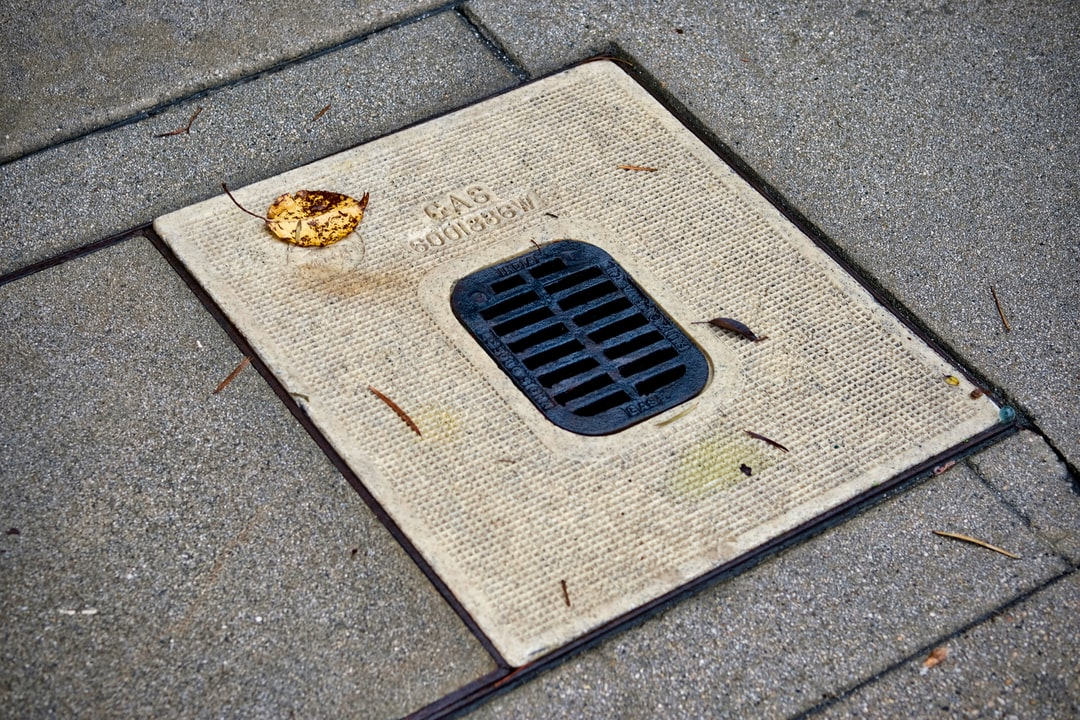 An outdoor drain
