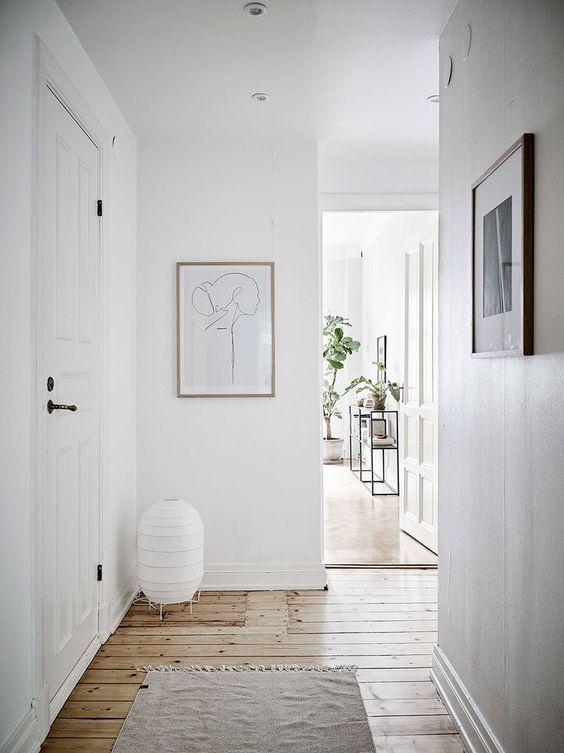 pale grey hallway