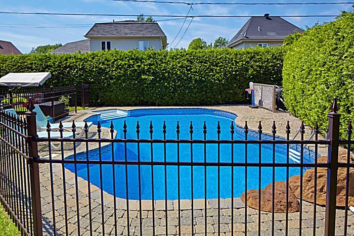 swimming pool fence black aluminium