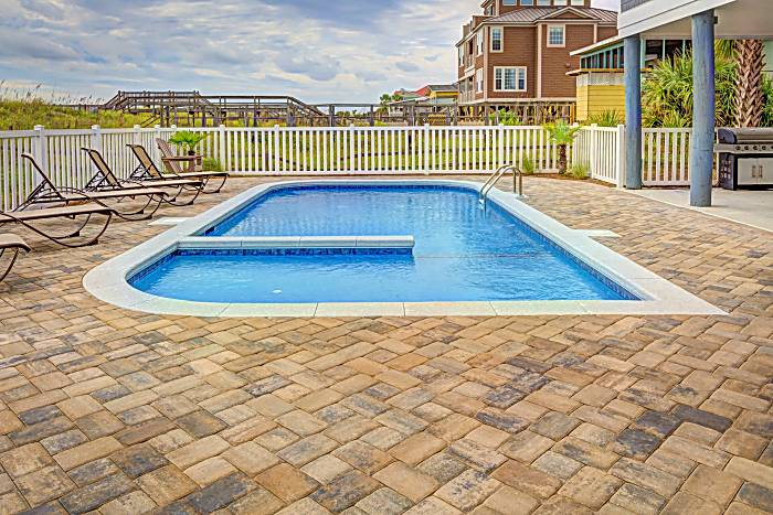 white fence for pools