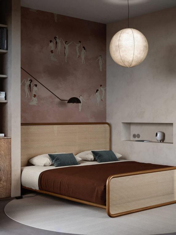 wallpaper featuring nudes in art deco bedroom
