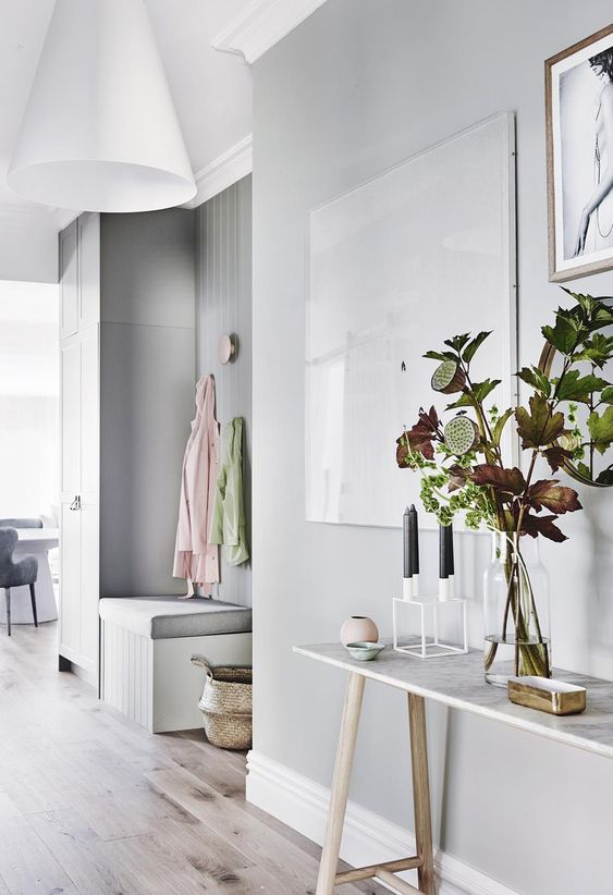 soft grey scandi with pale timber