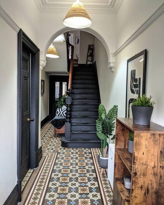 statement tiles in heritage home