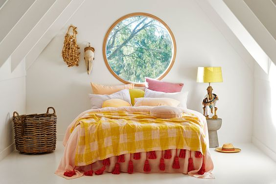 yellow buffalo print bedding