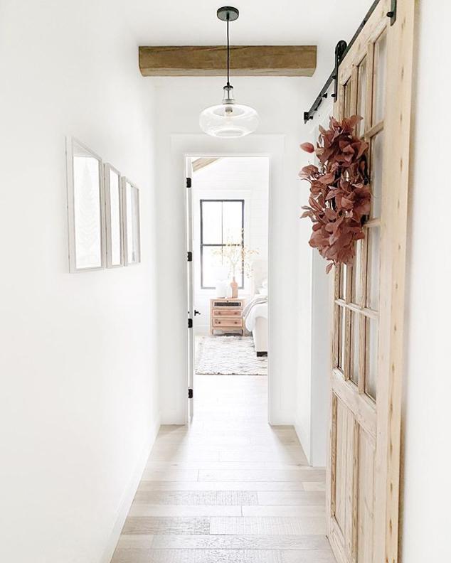 rustic hallway lighting