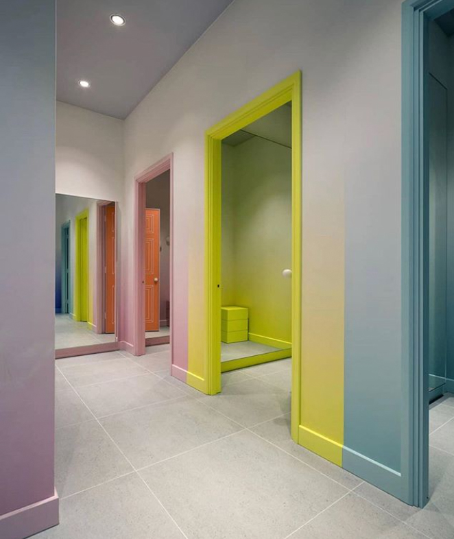 Coloured doorways
