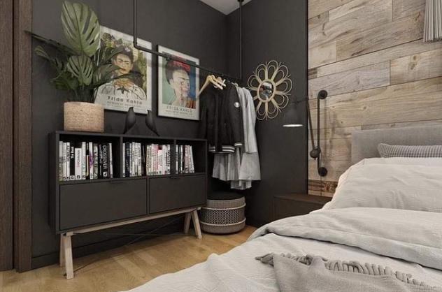 Trendy artsy room