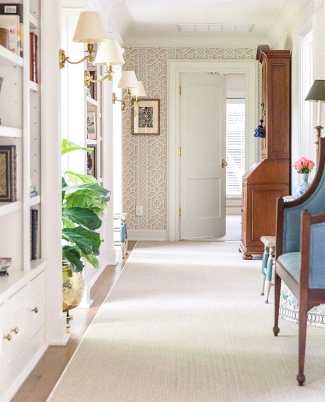 wall sconces in hallway