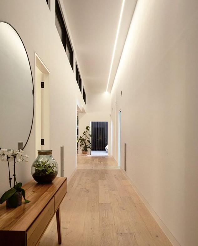 Architectural lighting modern hallway