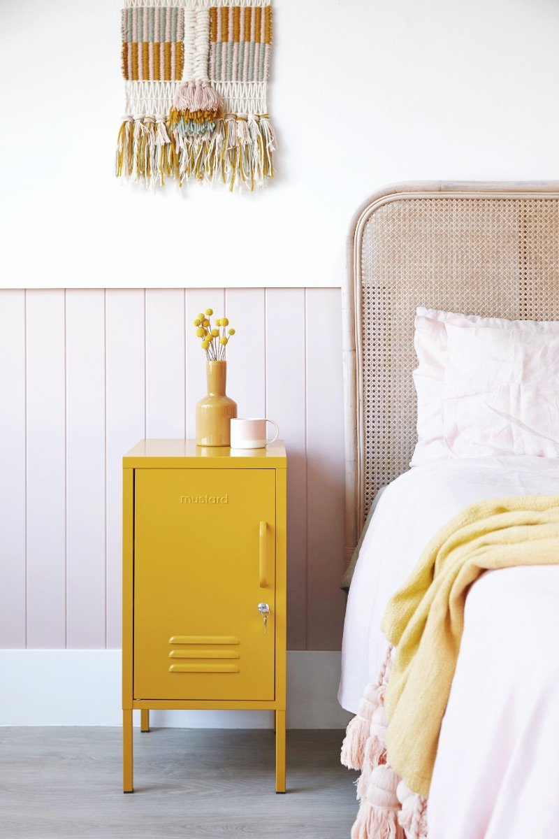 yellow locker lemon bedding