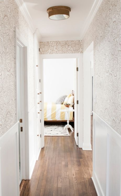 faint hallway wallpaper