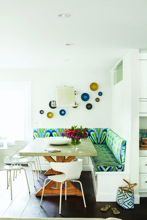 colourful banquette