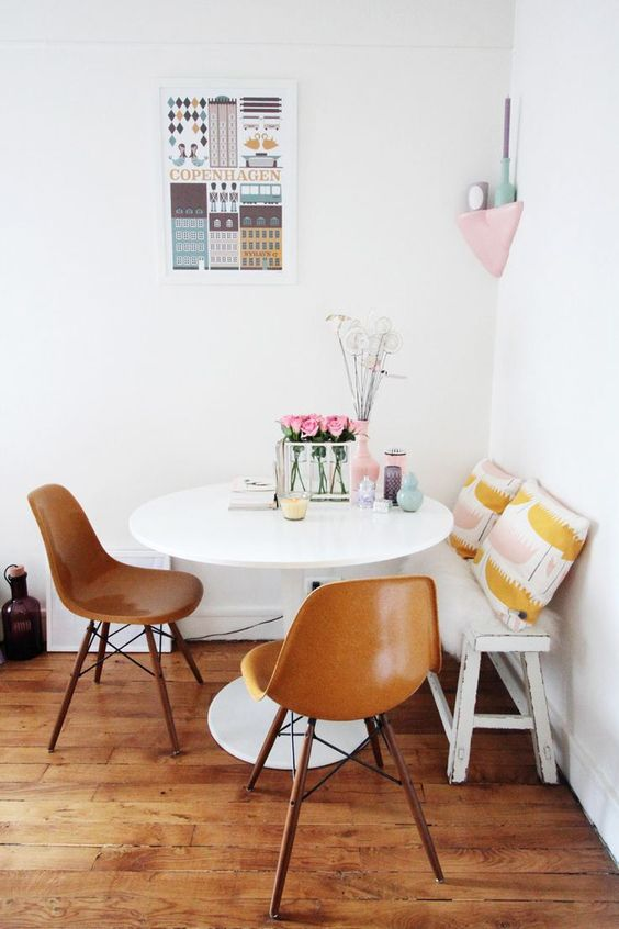 comfy and cheerful kitchen dining room