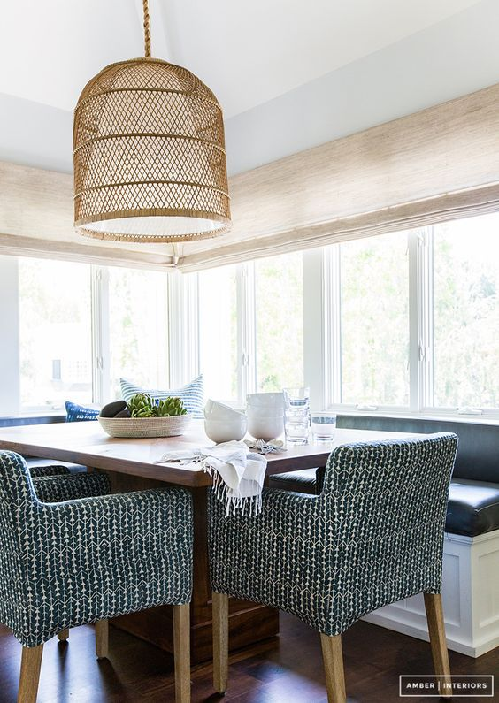 darker chairs for modern Hamptons dining room