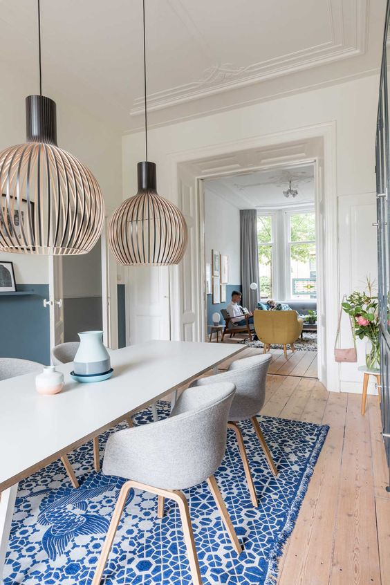 colourful Scandi dining room