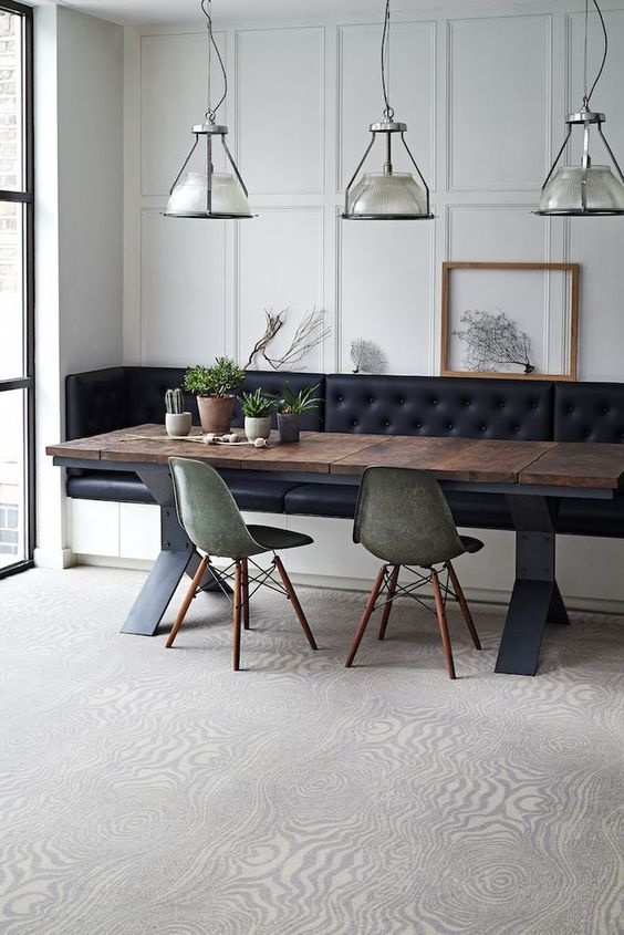 industrial glam dining room