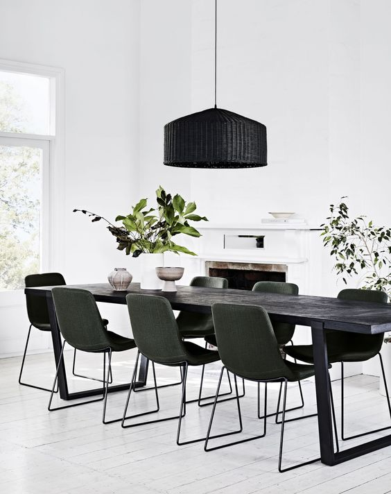 long black table